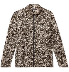 Leopard-print Shell Jacket - Brown