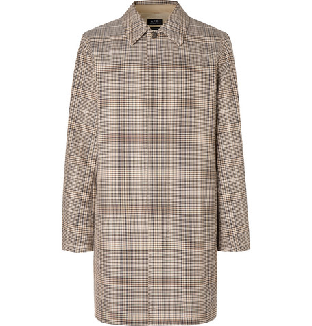Stefano Checked Cotton Twill Coat by A.P.C.