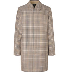 A.P.C. Stefano Checked Cotton-Twill Coat
