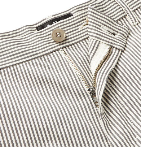 Pat Striped Cotton Blend Gabardine Chinos by A.P.C.
