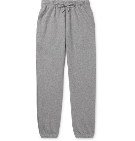 b30b6e459 A.P.C.Augustus Slim-Fit Tapered Logo-Print Loopback Cotton-Blend Jersey  Sweatpants