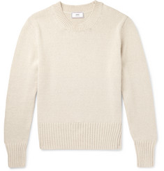 AMI Cotton and Linen-Blend Sweater