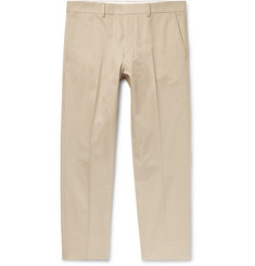 AMI Cropped Slim-Fit Cotton-Twill Trousers