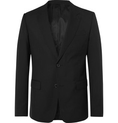 AMI Black Slim-Fit Virgin Wool Suit Jacket