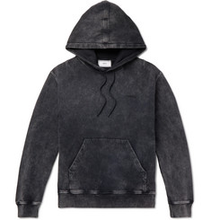 AMI Acid-Wash Fleeceback Cotton-Jersey Hoodie