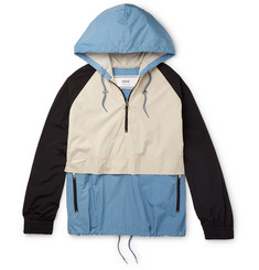 AMI Colour-Block Shell Hooded Jacket