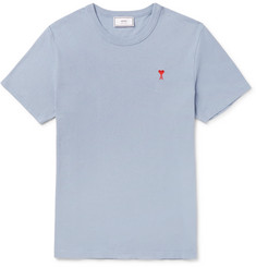AMI - Embroidered Cotton-Jersey T-Shirt