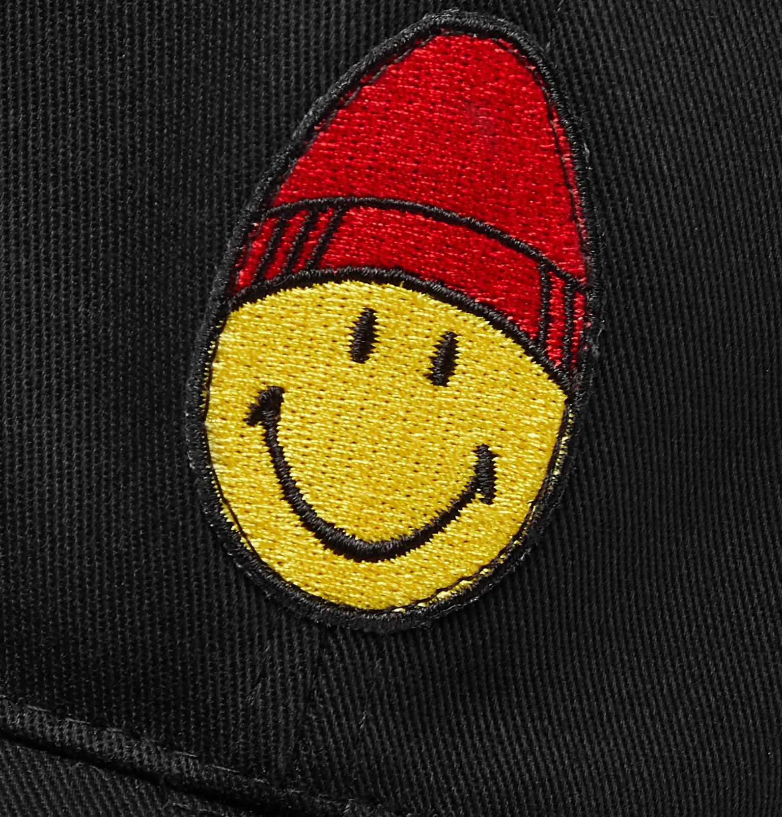 aa93582c0cf AMI - + The Smiley Company Logo-Appliquéd Cotton-Twill Baseball Cap