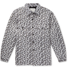 Noon Goons Leopard-Print Fleece Shirt Jacket