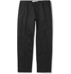 Noon Goons Black Slim-Fit Cotton-Twill Trousers