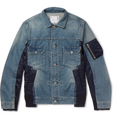 Sacai Shell-Panelled Denim Jacket