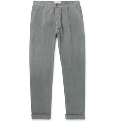 Universal Works - Tapered Pleated Cotton-Corduroy Trousers