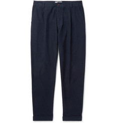 Universal Works Tapered Pleated Garment-Dyed Cotton-Corduroy Trousers