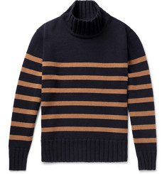 Universal Works - Striped Wool-Blend Rollneck Sweater
