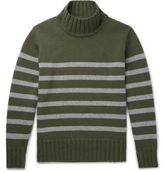 Universal Works Striped Wool-Blend Rollneck Sweater