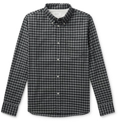 Universal Works Button-Down Collar Gingham Brushed Cotton-Flannel Shirt