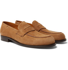 Mr P. - Dennis Collapsible-Heel Suede Loafers