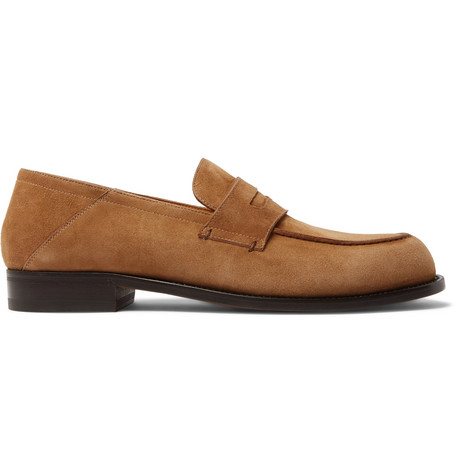 Dennis Collapsible Heel Suede Loafers by Mr P.
