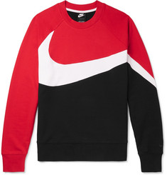 Nike Colour-Block Loopback Cotton-Blend Jersey Sweatshirt