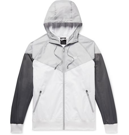 8392d333c Nike - Windrunner Colour-Block Nylon Hooded Jacket