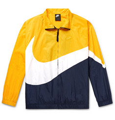 Nike Logo-Print Colour-Block Nylon Track Jacket