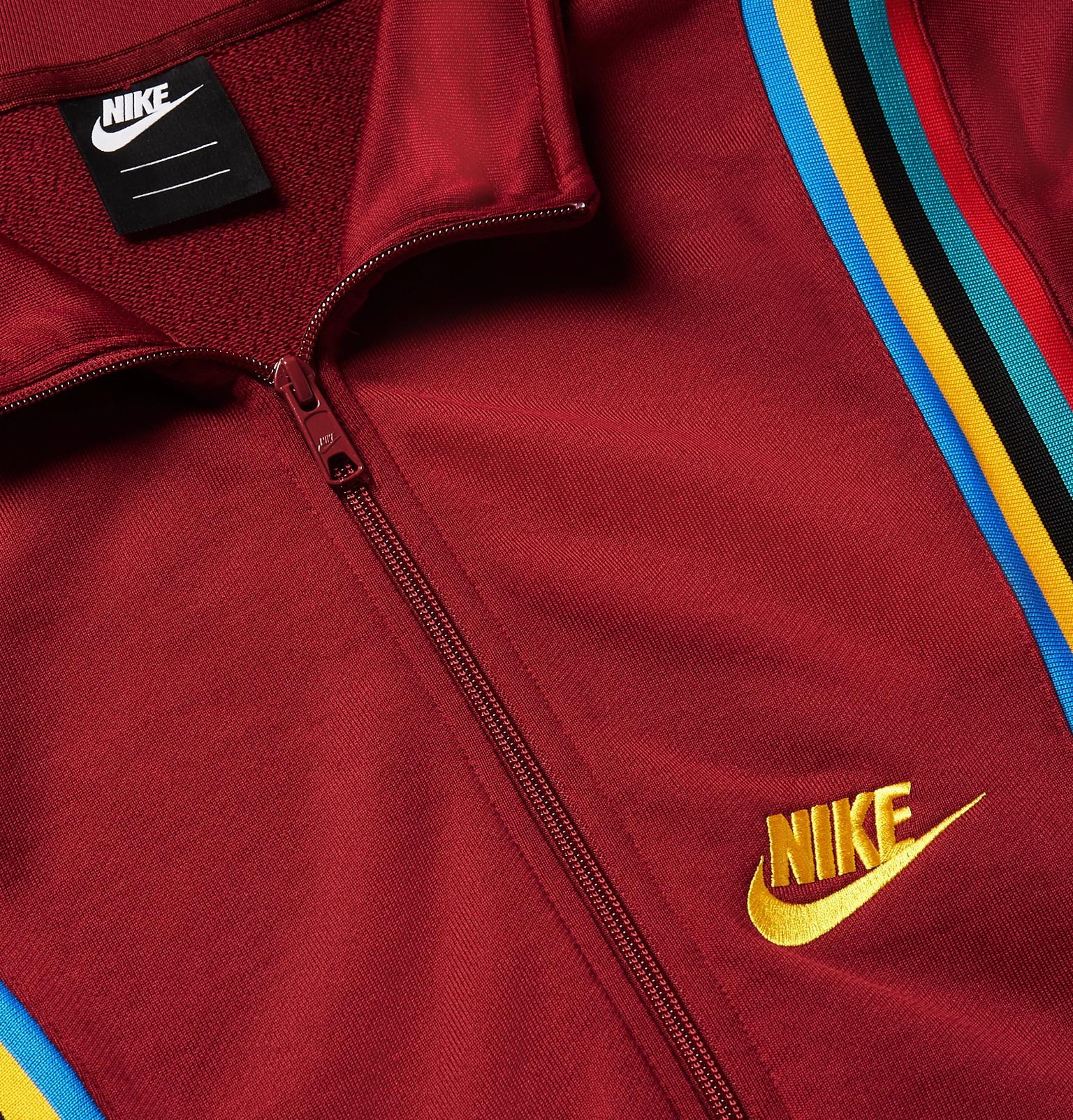 8fc8082b9 Nike - Sportswear Loopback Cotton-Blend Tech-Jersey Track Jacket