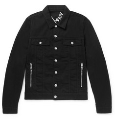 Balmain Slim-Fit Logo-Embroidered Denim Jacket