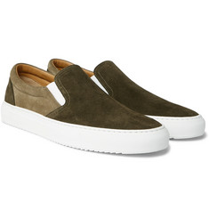 Mr P. - Larry Colour-Block Suede Slip-On Sneakers