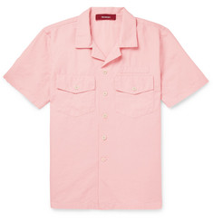 Sies Marjan - Dean Camp-Collar Cotton and Silk-Blend Twill Shirt