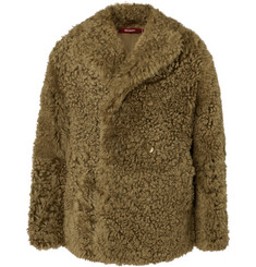 Sies Marjan Emery Tigrado Oversized Double-Breasted Shearling Coat