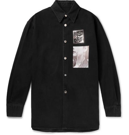 a225457f14c Raf Simons - Oversized Appliquéd Denim Shirt Jacket