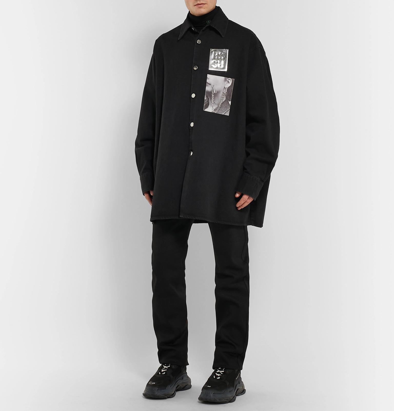 a0de9c97d3 Raf Simons - Oversized Appliquéd Denim Shirt Jacket