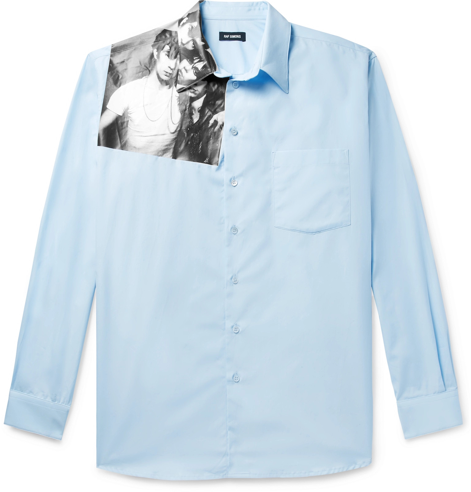 2027fc581f Raf Simons - Printed Cotton-Poplin Shirt