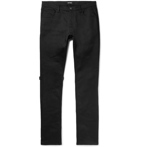 Appliquéd Denim Jeans by Raf Simons
