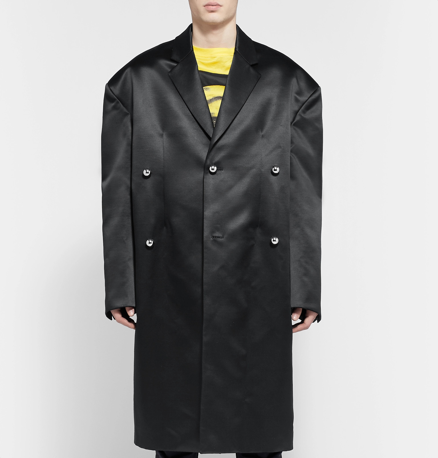 f383544ed0edda Raf Simons - Oversized Wool and Silk-Blend Duchess Satin Coat