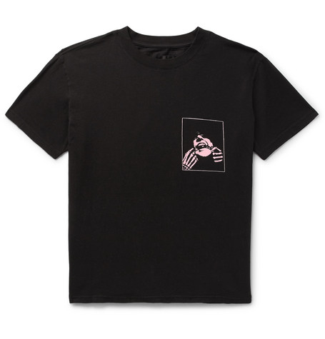 Printed Cotton Jersey T Shirt by Rt A