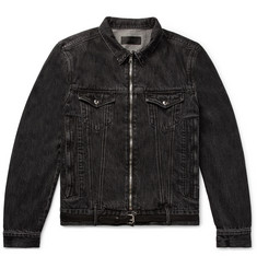 RtA Belted Distressed Denim Jacket