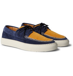 Mr P. - Dennis Two-Tone Suede Boat Shoes