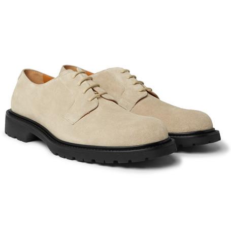 Jacques Suede Derby Shoes - Sand
