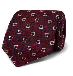 Drake's 8cm Silk and Linen-Blend Jacquard Tie