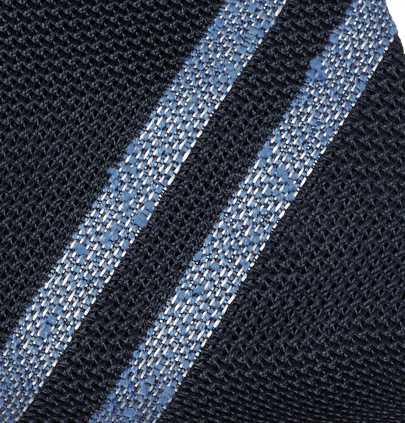 8dda71d696fc Drake's - 8cm Striped Silk-Grenadine Tie