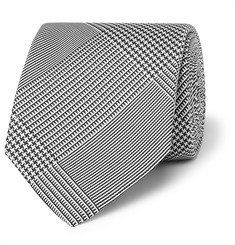 Drake's 8cm Prince of Wales Checked Silk-Jacquard Tie