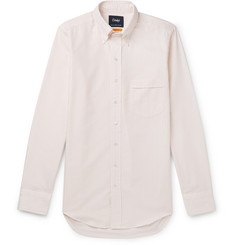 Drake's Button-Down Collar Striped Cotton Shirt