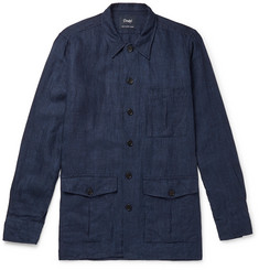 Drake's Washed-Linen Overshirt