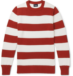 Drake's Wilcot Striped Cotton Sweater