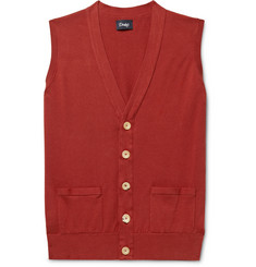 Drake's - Wilcot Slim-Fit Cotton Sweater Vest