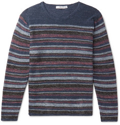 Inis Meáin Striped Donegal Linen Sweater