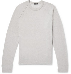 James Perse Honeycomb-Knit Cashmere Sweater