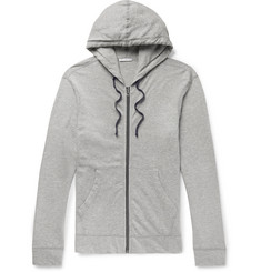 James Perse Mélange Loopback Supima Cotton-Jersey Zip-Up Hoodie