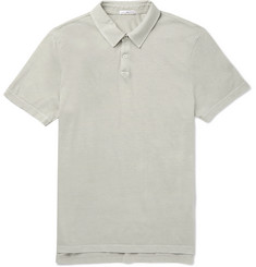 James Perse - Supima Cotton-Jersey Polo Shirt